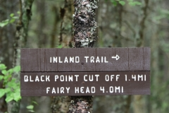 Cutler Coast Public Lands, Coastal Trail signs, Cutler, Maine.